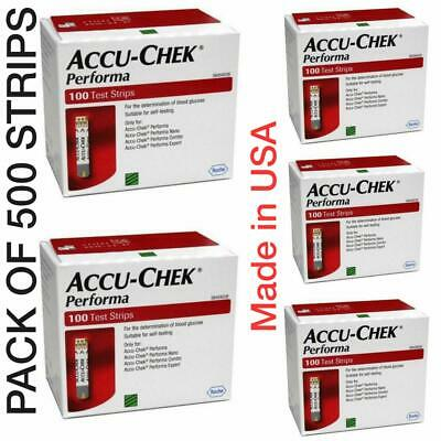 5X-ACCU-CHEK Performa 500 Test Strips EXPIRY JULY 2020 DELIVERY IN 7-15 DAYS