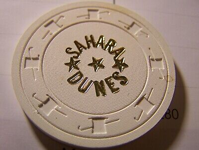 California Sahara Dunes  Card Room, Elsinore, 10Cent, White, Lcv