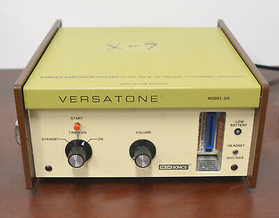 MEDASONICS Versatone D8 Doppler Ultrasound System Used working