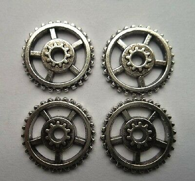 wholesale 20pcs alloy Tibetan silver wheel gear charms Spacer bead 17 mm
