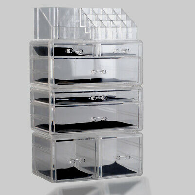 Box 7 Drawer Makeup Jewellery Acrylic Cosmetic Display Storage Organiser Holder