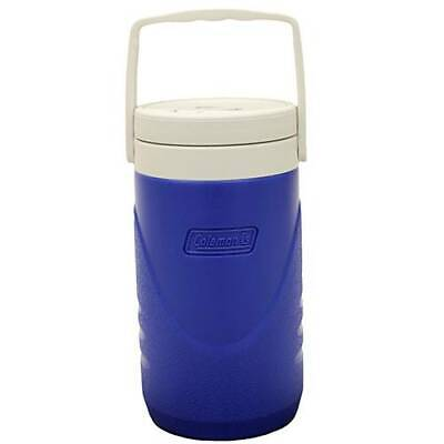 e425cdaf35 Coleman 3000001016 Insulated Water Jug Half Gallon Blue w/White Wide Mouth  Top