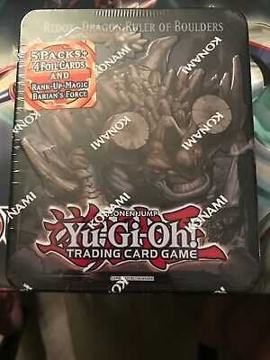 Yugioh Redox, Dragon Ruler Of Boulders Factory Sealed! Collector Tin