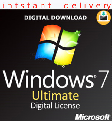WINDOWS 7 ULTIMATE ACTIVATION KEY 32/64 BIT licence key code intsant delivery