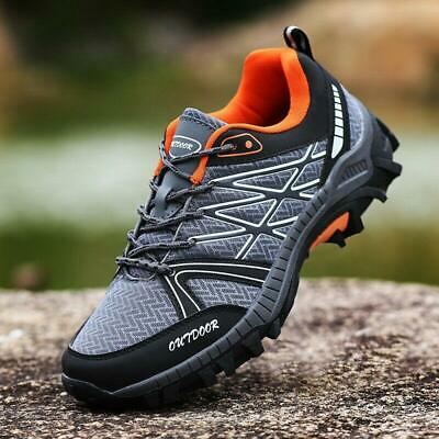 Mens Breathable Outdoor Climbing Trail Shoes Hiking Non-slip Waterproof Flats sz