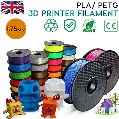3D Printer Filament PLA PETG 1.75mm 1KG Various Colours Available UK