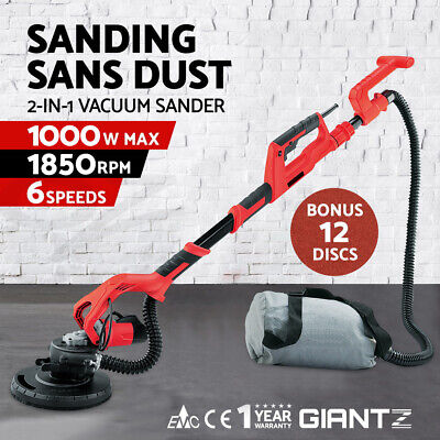 Telescopic Drywall Sander Wall Giraffe Sander 2in1 Dust Free Plaster Ceilings