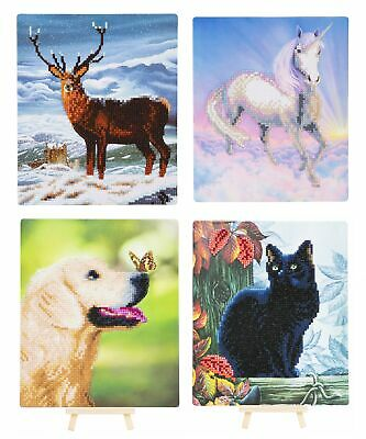 Craft Buddy 21cm x 25cm Crystal Art Gem Picture Kit with Wooden Easel