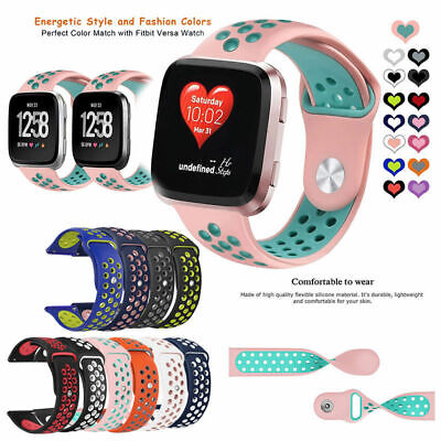 For Fitbit Versa Replacement Silicone Sports Watch Band Strap Wristband Bracelet