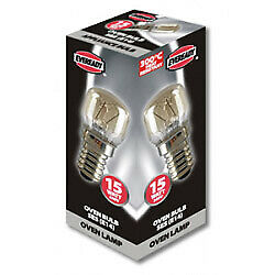 [3 Pack] Eveready Oven Lamp Pack 10 15w SES