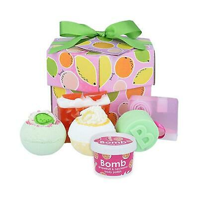 Bomb Cosmetics Fruit Basket Pamper Box Bath Bombs Soap & Cream Body Hex Gift Set