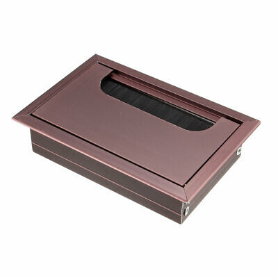 Cable Hole Cover, 108mm x 69mm Aluminum Alloy for Wire Organizer  (Brown)