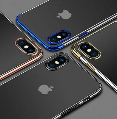 Luxury Ultra Slim Shockproof Clear Case Soft TPU Cover for iPhone XS Max XS XR X