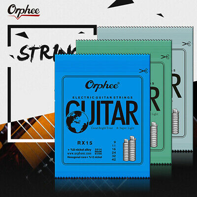 1 Set Practiced Nickel Plated Steel Guitar Strings For Electric Guitar RX Se Nv