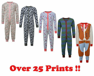 Boys Girls All In One Sleepsuit Onezee One Piece Pyjamas Ex Uk Store 1-15 Years