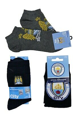 Mens Manchester City Socks Official Merchandise 3 Styles Fathers Day 6-11