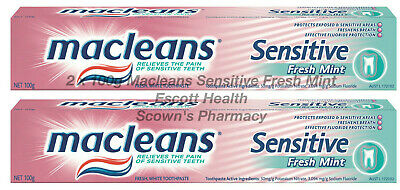 2 x 100g Macleans Toothpaste Sensitive Relieve The Pain Of Sensitive Teeth NEW