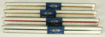 Vintage Drafting Technical Set ALVIN 4PC Architect & Engineering Rulers Germany