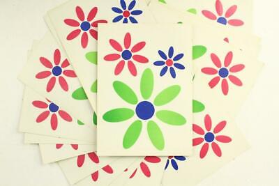 """Vintage Lot HIPPIE FLOWERS 1970s TRAVEL Decal Stickers Sheets 9.5"""" x 6.75"""""""
