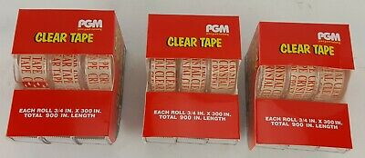 """9 Pack Clear Tape Dispensers Each Roll Has 300"""" Long X 3/4"""" Wide"""