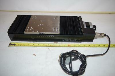 OPTO MICRON ULTRA PRECISION LINEAR STAGE TRAVEL:  +/- 40mm STEP MOTOR DRIVEN