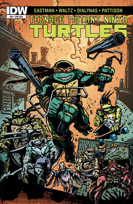 Teenage Mutant Ninja Turtles #53 1St Print Idw 2011 Sub Cover Eastman