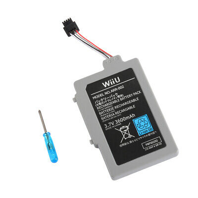 Compact 3600mAh Rechargeable Battery Pack Replacement for Wii U Gamepad AC1748