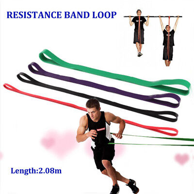 Heavy Duty Resistance Band Loop Power Gym Fitness Exercise Yoga Workout D@