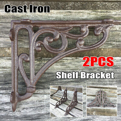 Hardware 2pcs Wall Hanging Shelf Bracket Heavy Duty Rack Home Store Bar Hotel 15x12cm Antiques