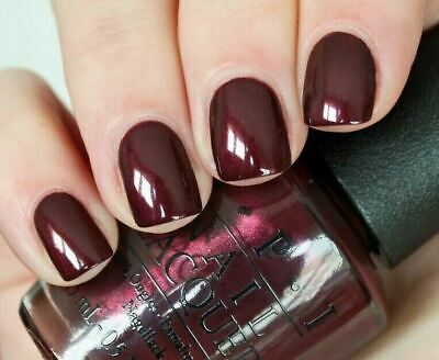 OPI Mariah SLEIGH RIDE FOR TWO Maroon Purple Shimmer Nail Polish Lacquer E14 NEW