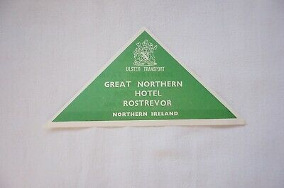 c30s Northern Hotel Ireland Irish Railway Luggage Label Rostrevor Ulster