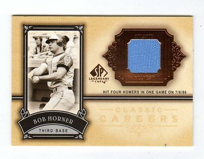Bob Horner Mlb 2005 Sp Legendary Cuts Classic Careers Material (Braves,Cardinals