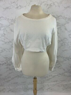 5830d4b8d08 Urban Outfitters Silence Noise Women's White Long Sleeve Crop Top Size  Medium