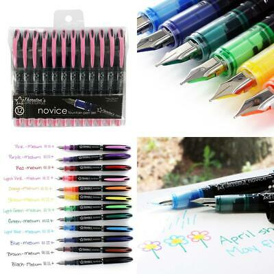 Thornton's Office Supplies Disposable Fountain Pens, Pack of 12 (Medium...