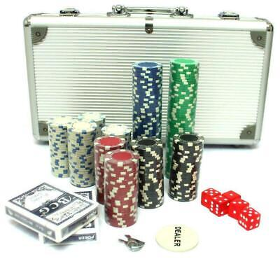 300 Piece Poker Set with Aluminum Carrying Case 11.5g weight 5 red color dice