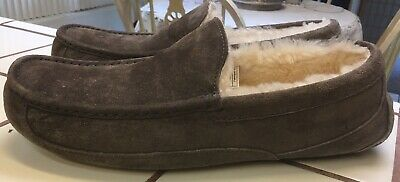 3ea254124bf UGG ASCOT WATER-RESISTANT Suede Moccasin Slippers, Men's Size 14M, Espresso
