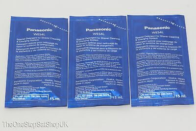 Panasonic WES4L03-803 Pack of 3 Special Detergent For Electric Shavers ES-LV95