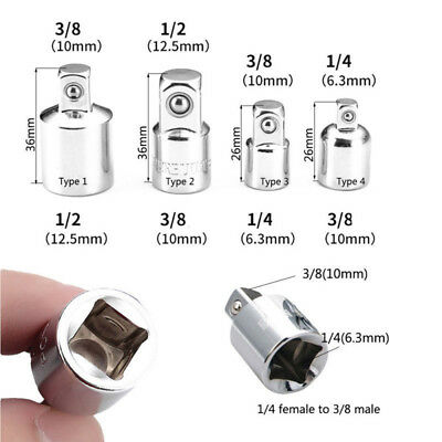 """3/8"""" to 1/4"""" 1/2 inch Drive Ratchet Converter Socket Adapter Reducer Air Impact"""