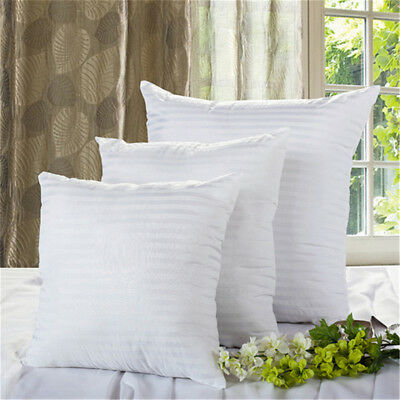New Vacuum Compression Striped Pillow Square Pillow Inner Cushion Insert FN