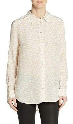 NEW $288 Equipment Reese PEACOAT WAILEA FLORAL Silk Blouse Shirt XS//S SALE!!