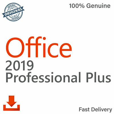 Microsoft Office Professional Plus 2019 Genuine License Key 32/64 Bit for PC