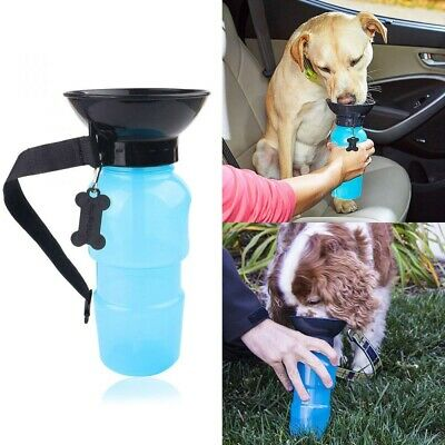 500ml Dog Drinking Outdoor Travel Water Bottle Pet Puppy Cat Portable Feed Bowl