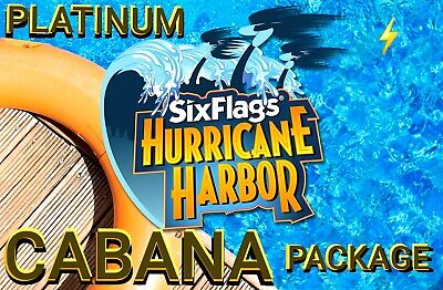 Hurricane Harbor Platinum Flash Pass + Admission/Parking/Meals/Drinks & Cabana*