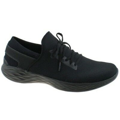 Ladies Skechers You Inspire Walk Black Slip On Lightweight Shoes Trainers