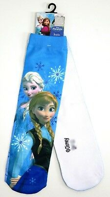 Young Girls Disney Frozen Elsa & Anna Photo Socks Uk Size 6-8.5 / 2-3 Years