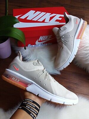 0bd99cced1 SIZE 10 Wmns NIKE AIR MAX SEQUENT 3 SUMMER LIGHT CREAM/White AO2675 200
