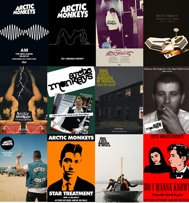 ARCTIC MONKEYS Album & Single Posters A4, A3, A2 High Quality + Glossy 220gsm