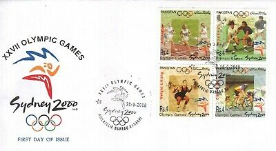 Pakistan Fdc 2000 & Stamp XXVII Olympic Game Sydney – 2000 Hockey Cycling