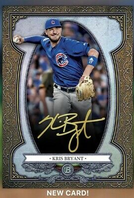 2019 Topps Bunt Digital Bowman Sterling Kris Bryant Gold Signature 2.5 Pts