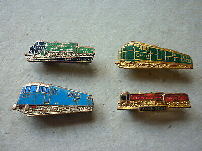 FOUR (4) VINTAGE Enamel Badges Railway Trains Steam Train Badge H w  Miller